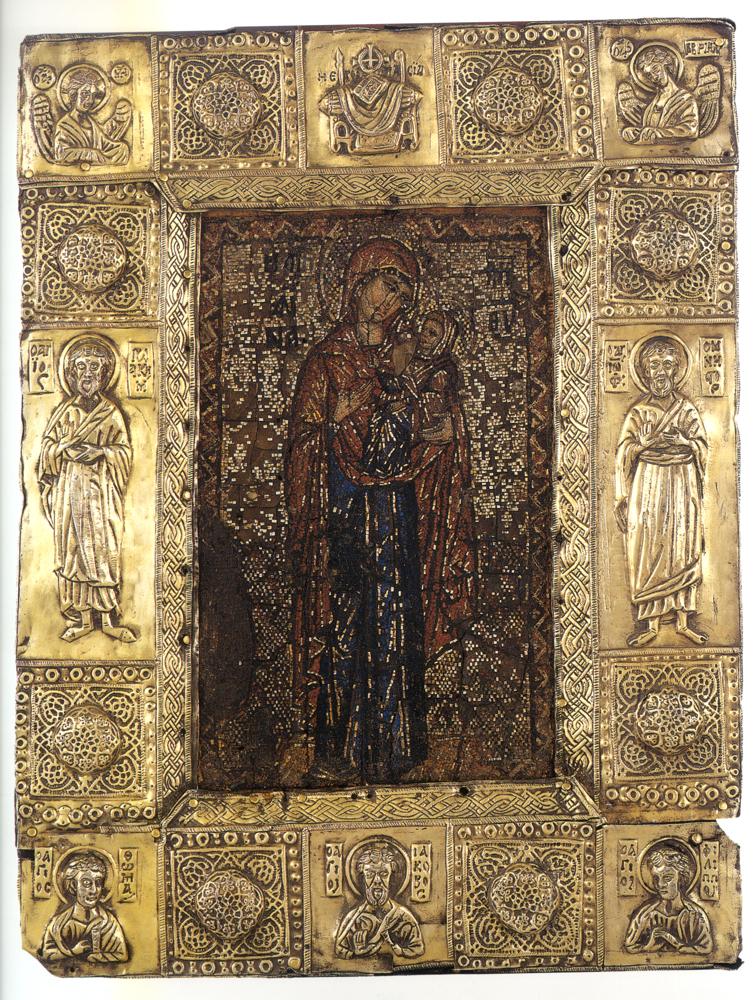 Ψηφιδωτή εικόνα της Αγίας Αννης (25Χ20 εκ.). Τέλος 13ου - αρχές 14ου αιώνα